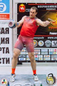 Майка для рывка сборной Челябинской области по гиревому спорту